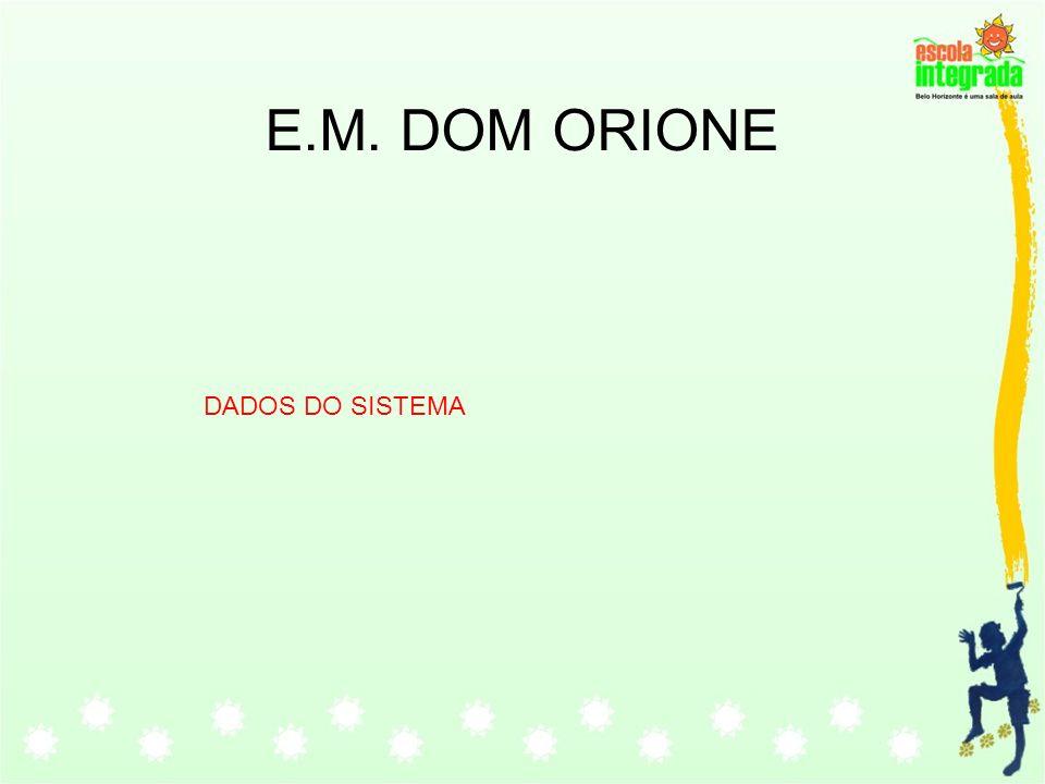 E.M. DOM ORIONE DADOS DO SISTEMA