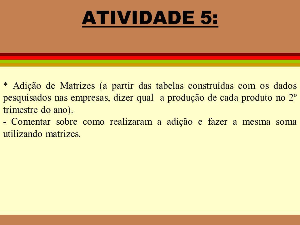 ATIVIDADE 5: