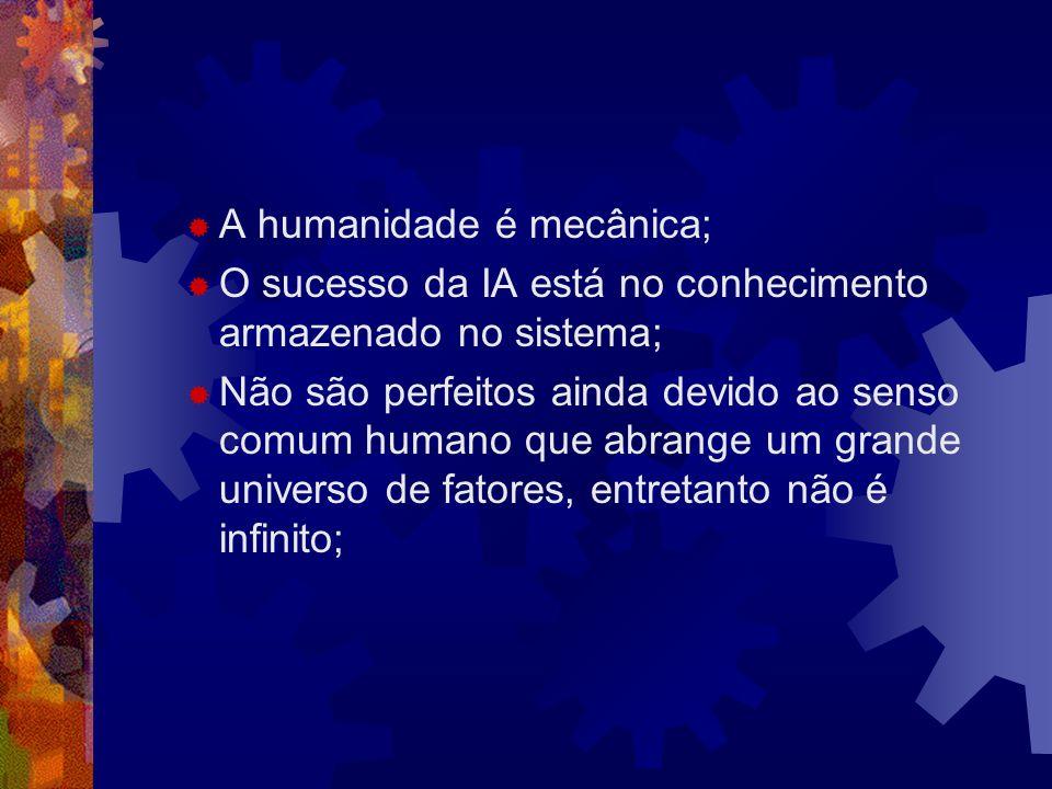 A humanidade é mecânica;