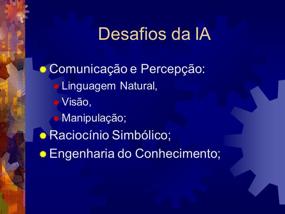 Desafios da IA Comunicação e Percepção: Raciocínio Simbólico;