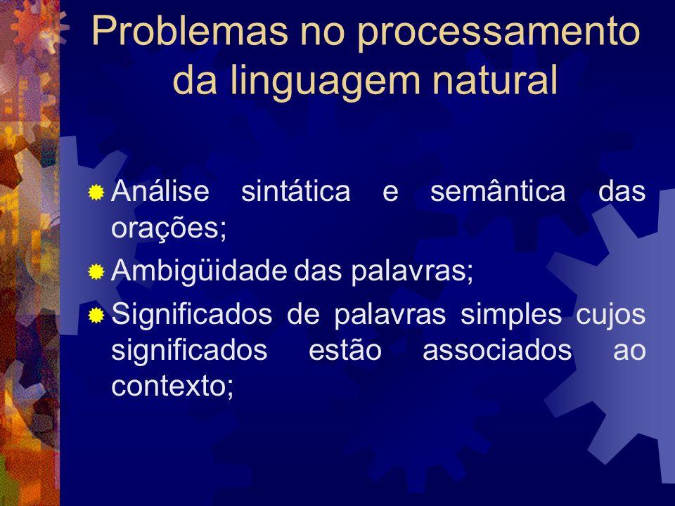 Problemas no processamento da linguagem natural
