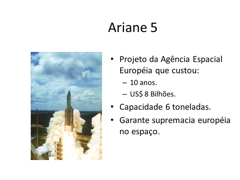 Ariane 5 Projeto da Agência Espacial Européia que custou: