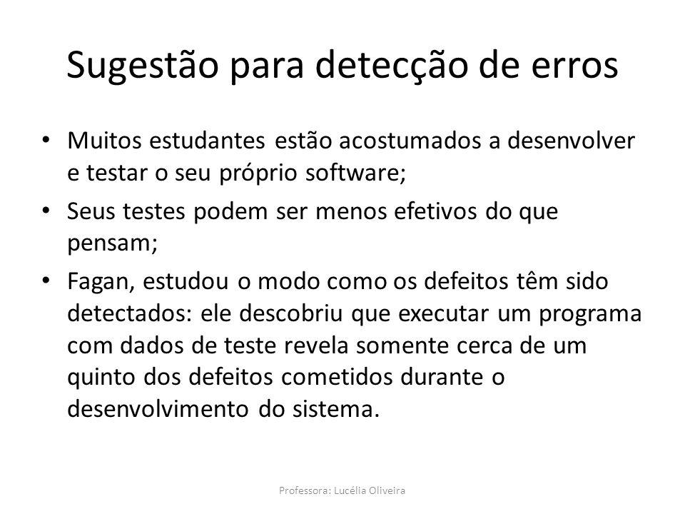 Sugestão para detecção de erros