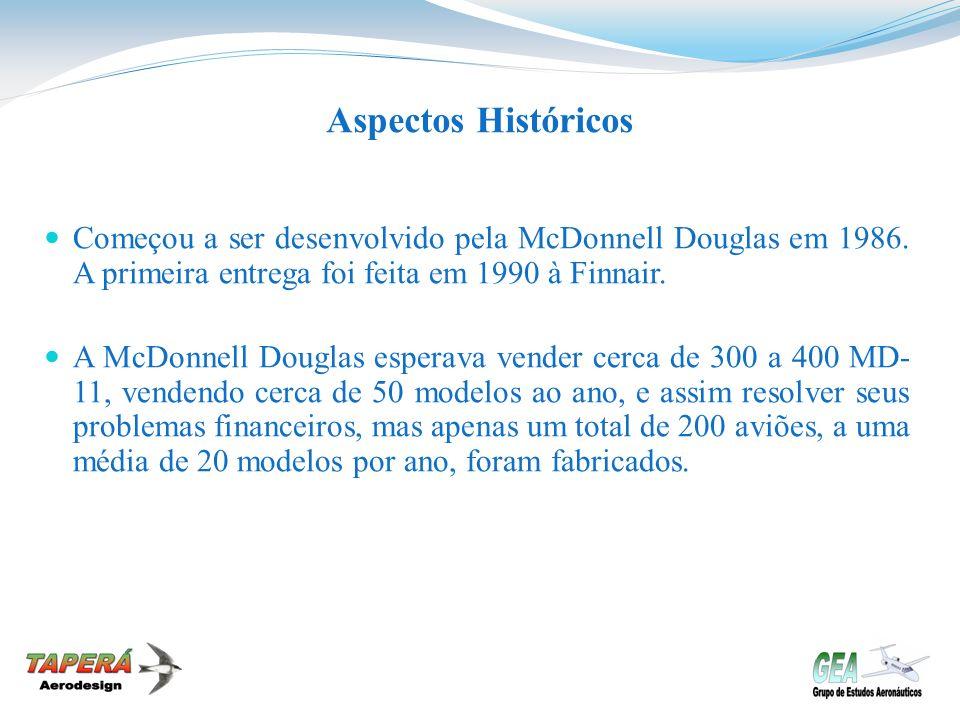 Aspectos Históricos Começou a ser desenvolvido pela McDonnell Douglas em 1986. A primeira entrega foi feita em 1990 à Finnair.