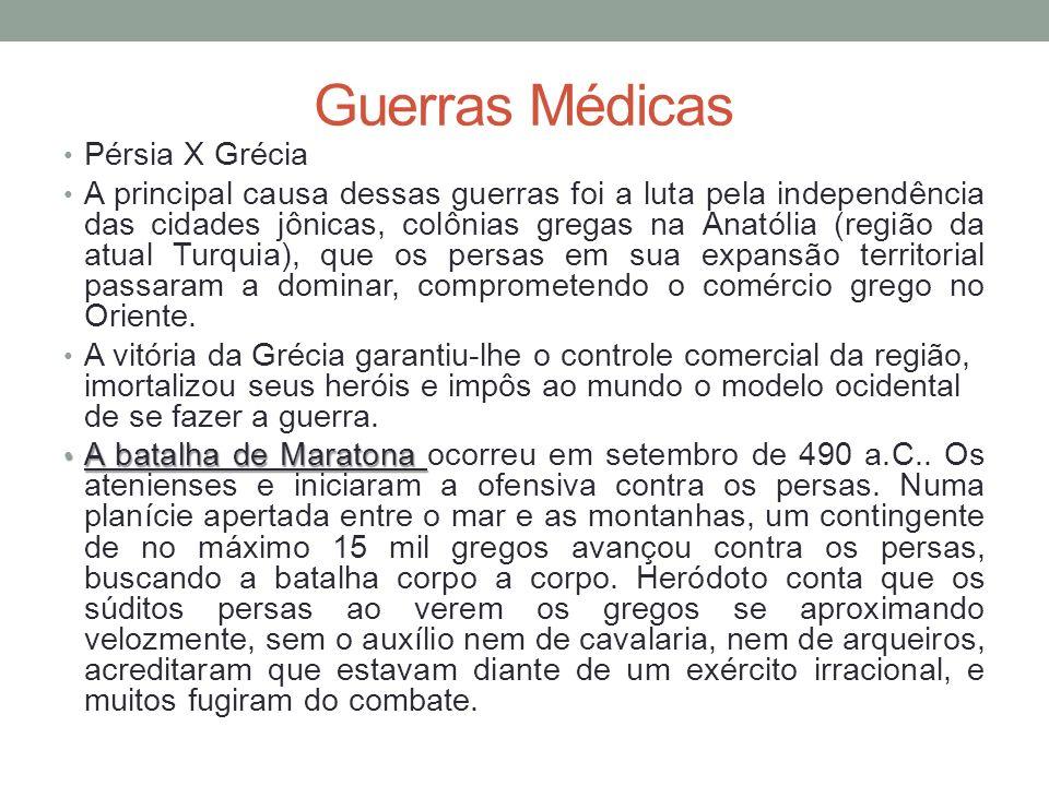 Guerras Médicas Pérsia X Grécia