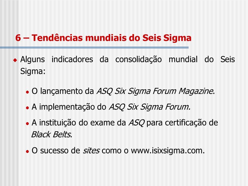 6 – Tendências mundiais do Seis Sigma