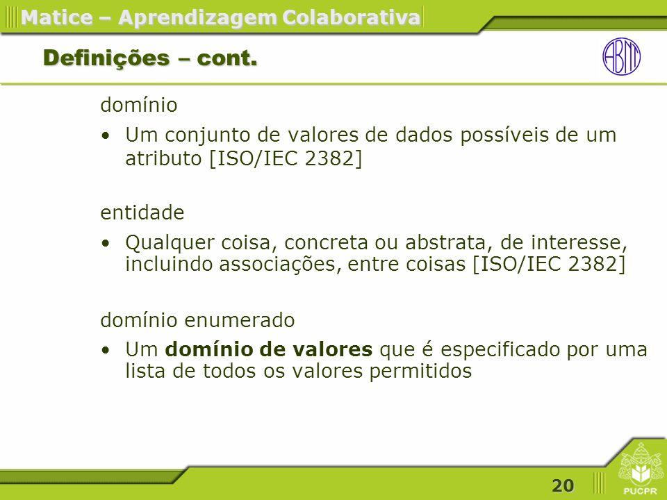 Definições – cont. domínio