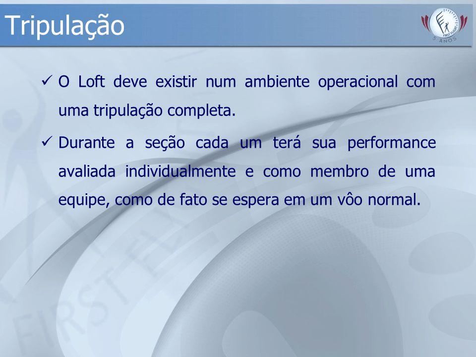 Tripulação O Loft deve existir num ambiente operacional com uma tripulação completa.