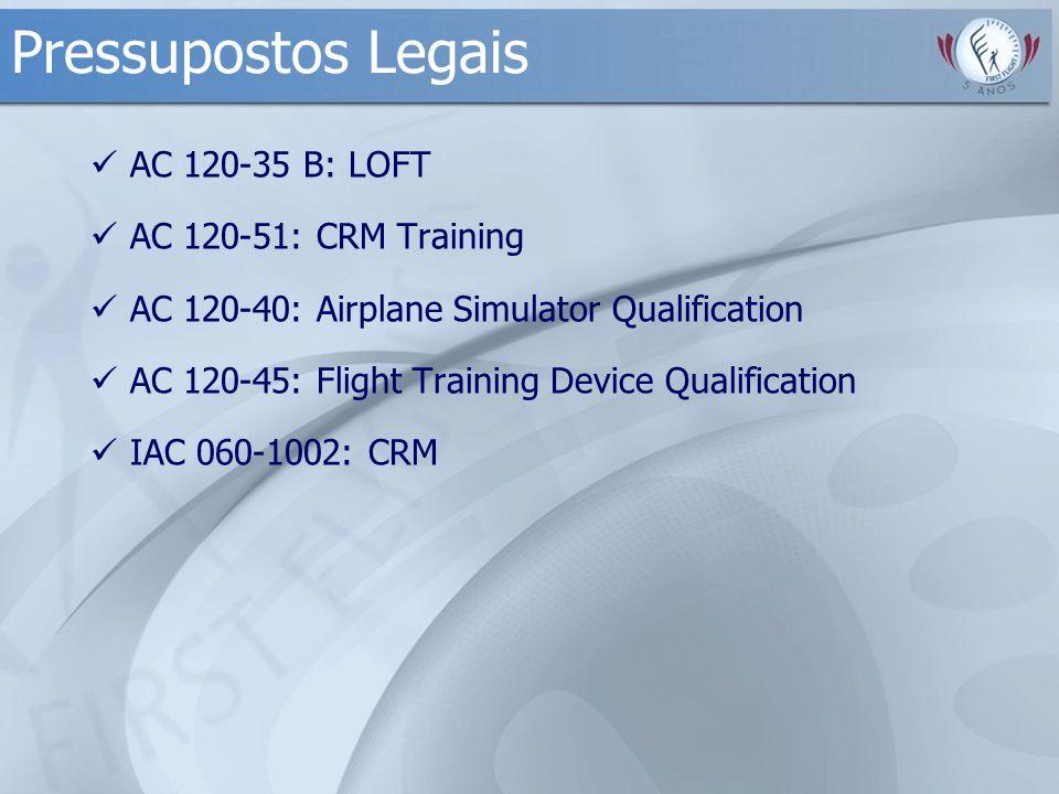 Pressupostos Legais AC 120-35 B: LOFT AC 120-51: CRM Training