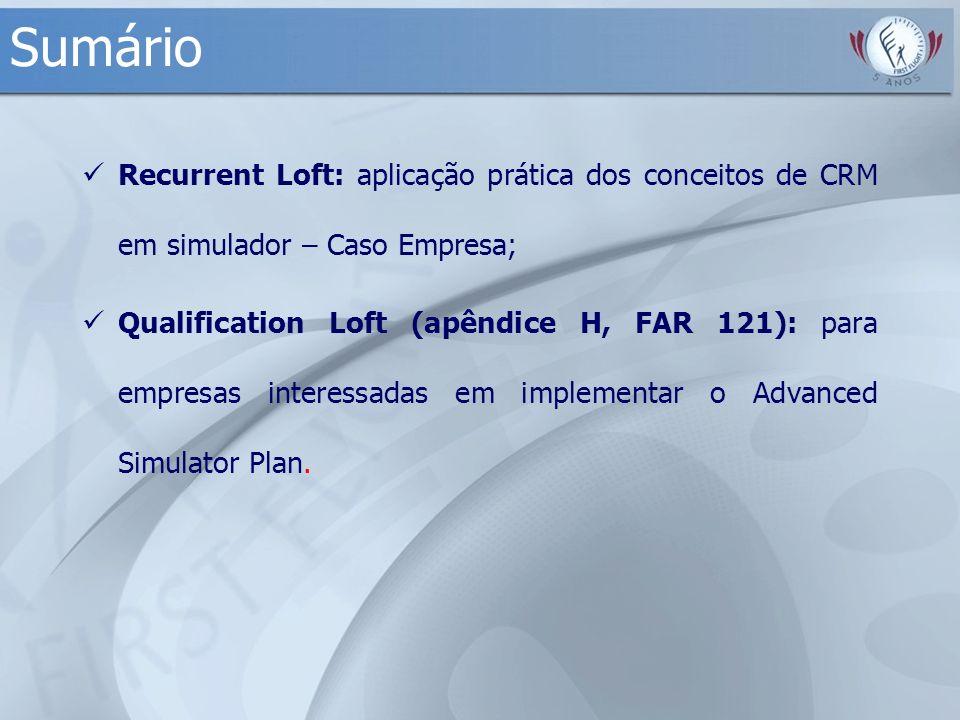 Sumário Recurrent Loft: aplicação prática dos conceitos de CRM em simulador – Caso Empresa;