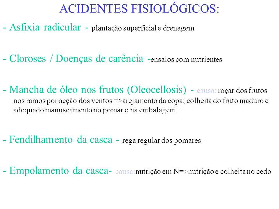 ACIDENTES FISIOLÓGICOS: