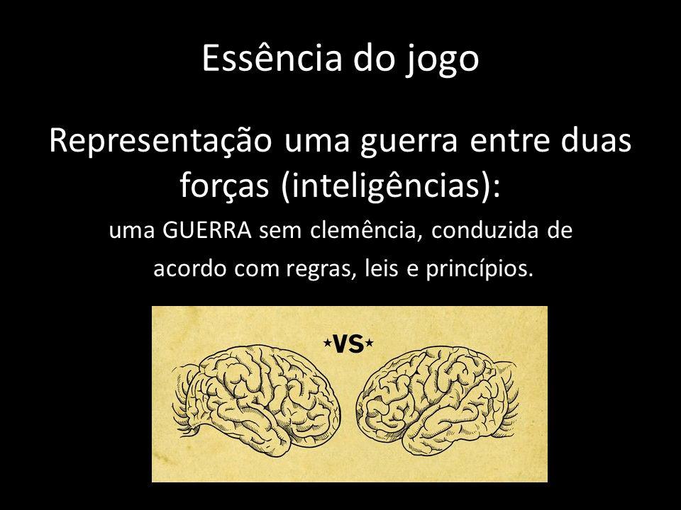 Essência do jogo Representação uma guerra entre duas forças (inteligências): uma GUERRA sem clemência, conduzida de.
