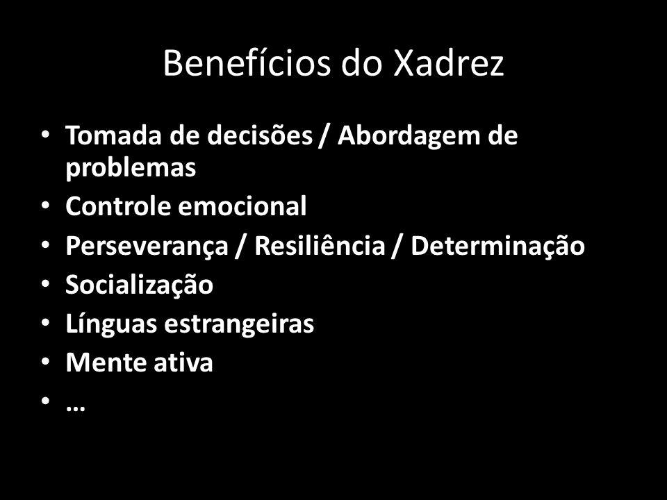 Benefícios do Xadrez Tomada de decisões / Abordagem de problemas