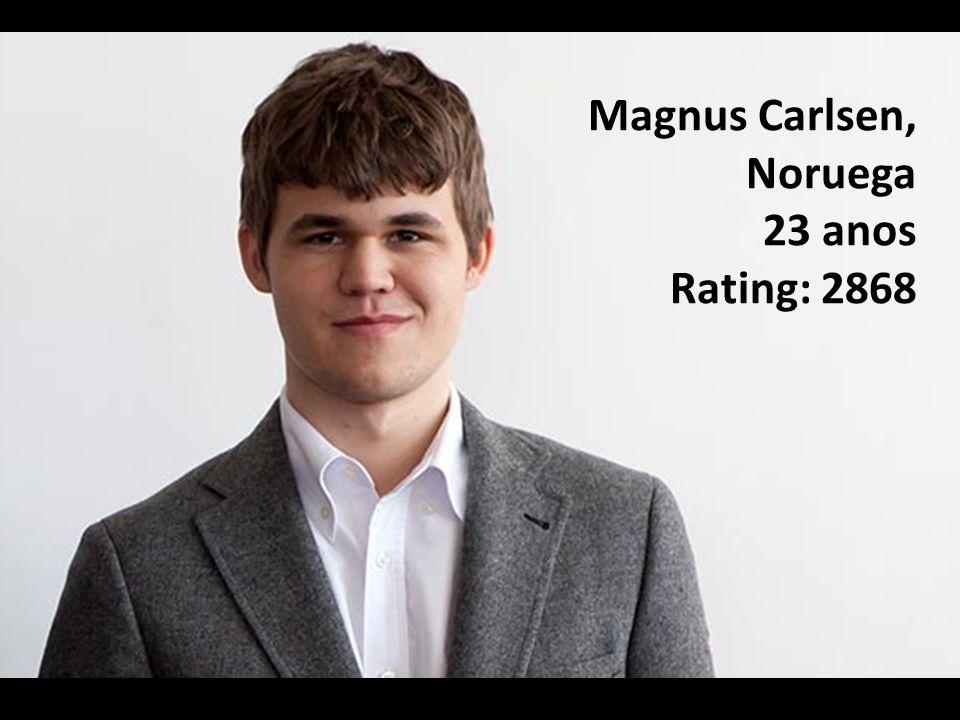 Magnus Carlsen, Noruega 23 anos Rating: 2868