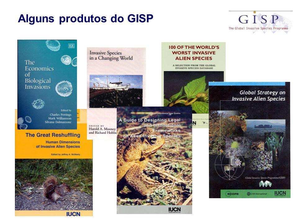 Alguns produtos do GISP