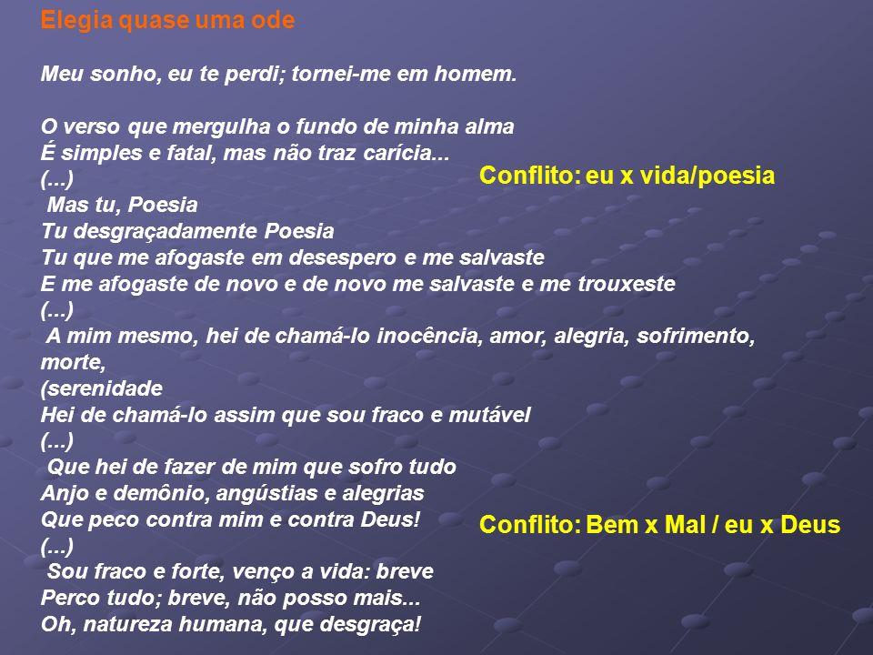 Conflito: eu x vida/poesia
