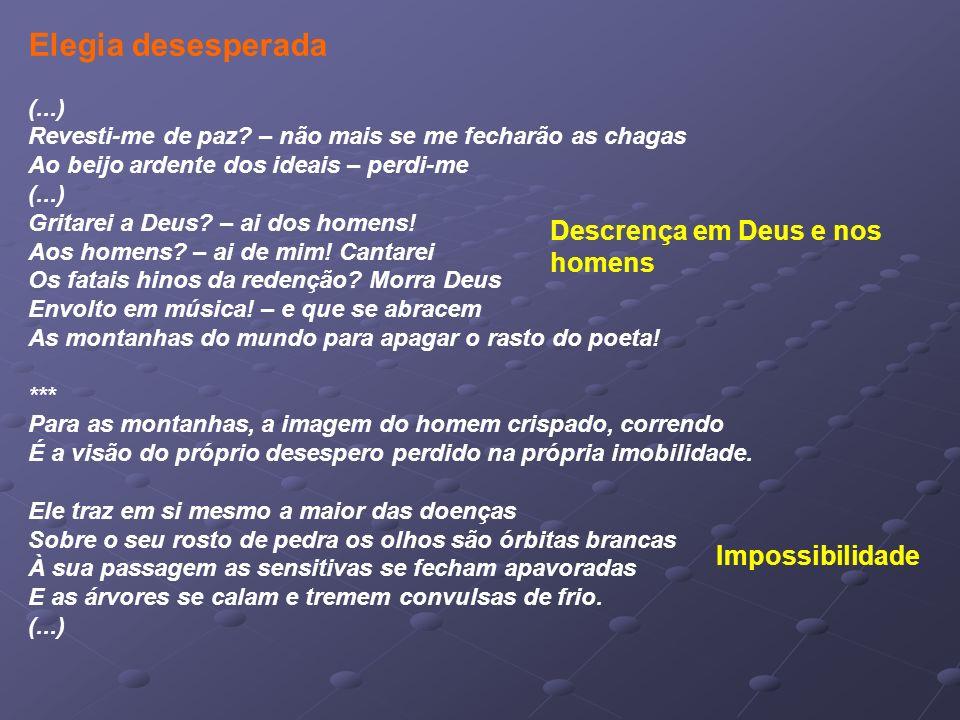 Elegia desesperada (...) Descrença em Deus e nos homens