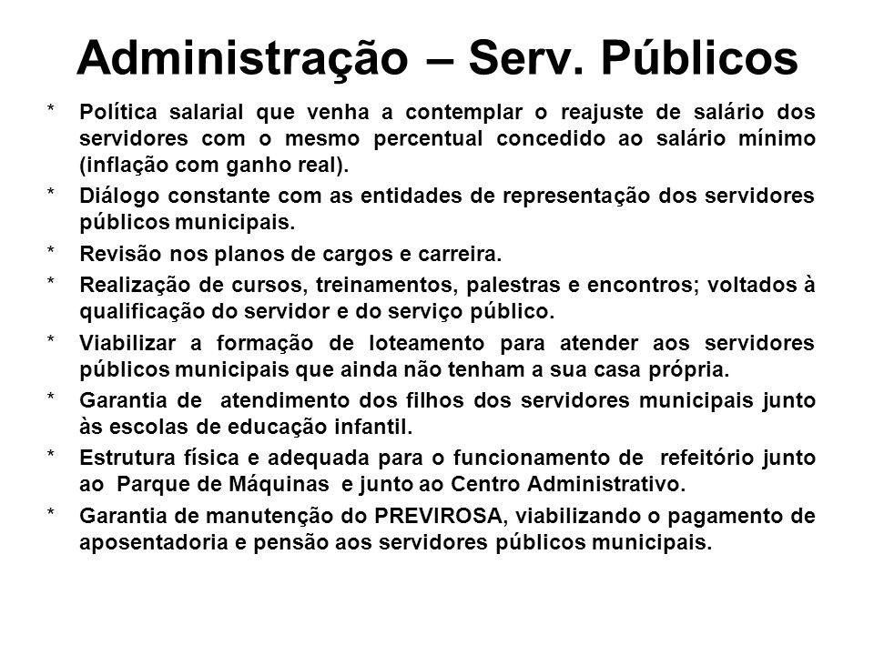 Administração – Serv. Públicos