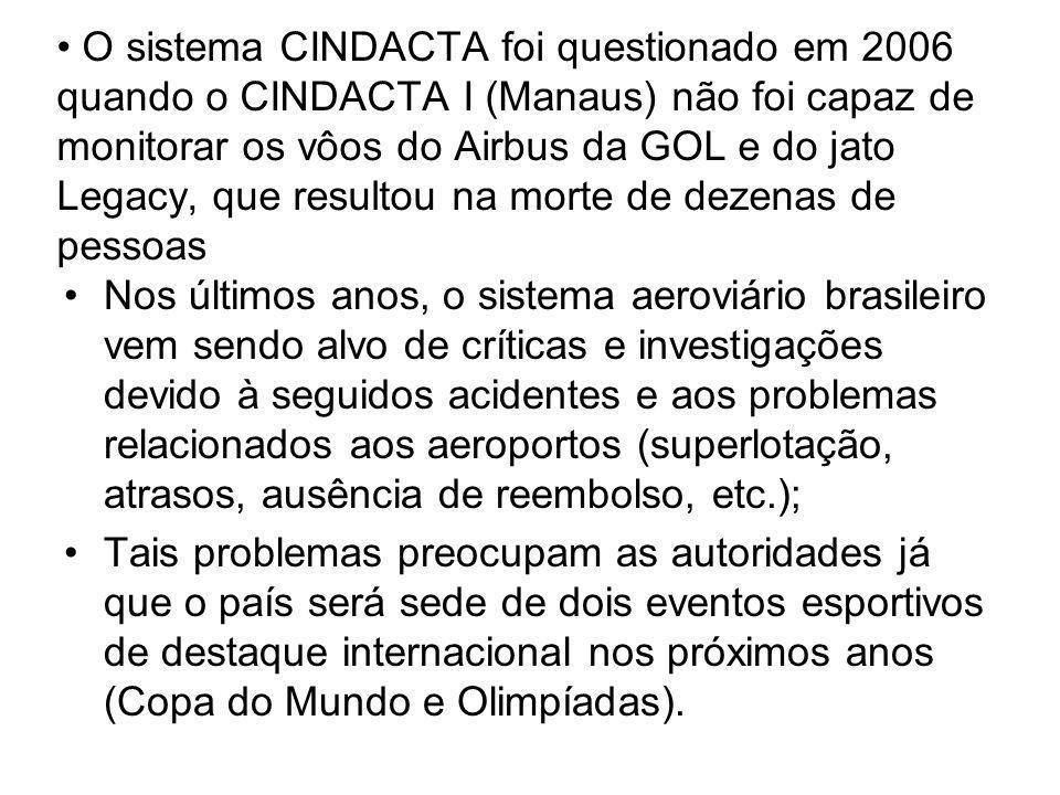 O sistema CINDACTA foi questionado em 2006 quando o CINDACTA I (Manaus) não foi capaz de monitorar os vôos do Airbus da GOL e do jato Legacy, que resultou na morte de dezenas de pessoas