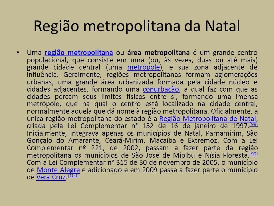 Região metropolitana da Natal