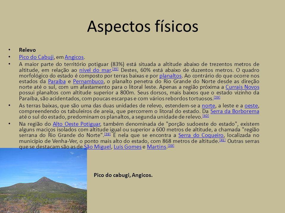 Aspectos físicos Relevo Pico do Cabuji, em Angicos.
