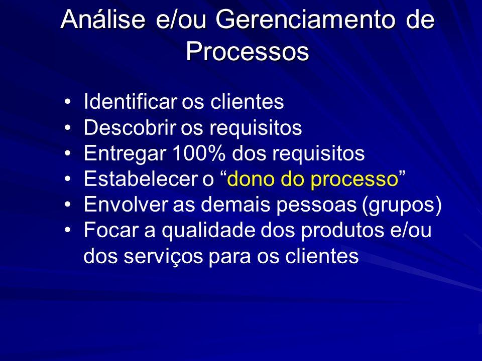 Análise e/ou Gerenciamento de Processos