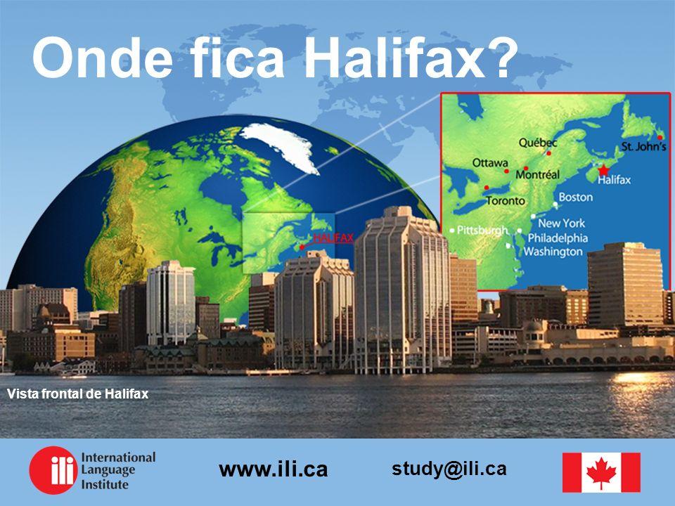 Onde fica Halifax Vista frontal de Halifax