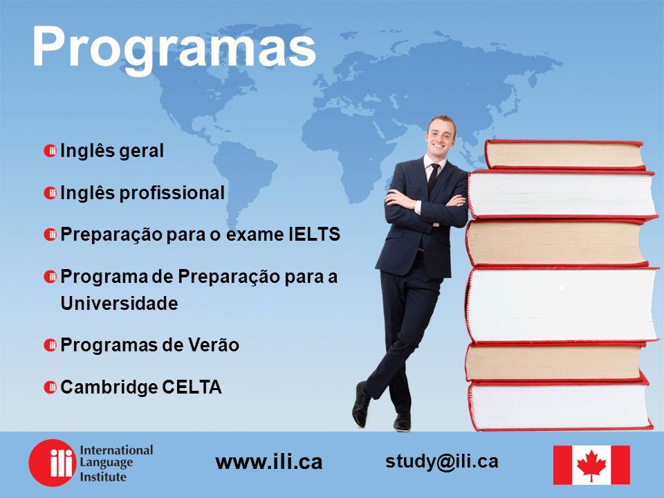 Programas Inglês geral Inglês profissional