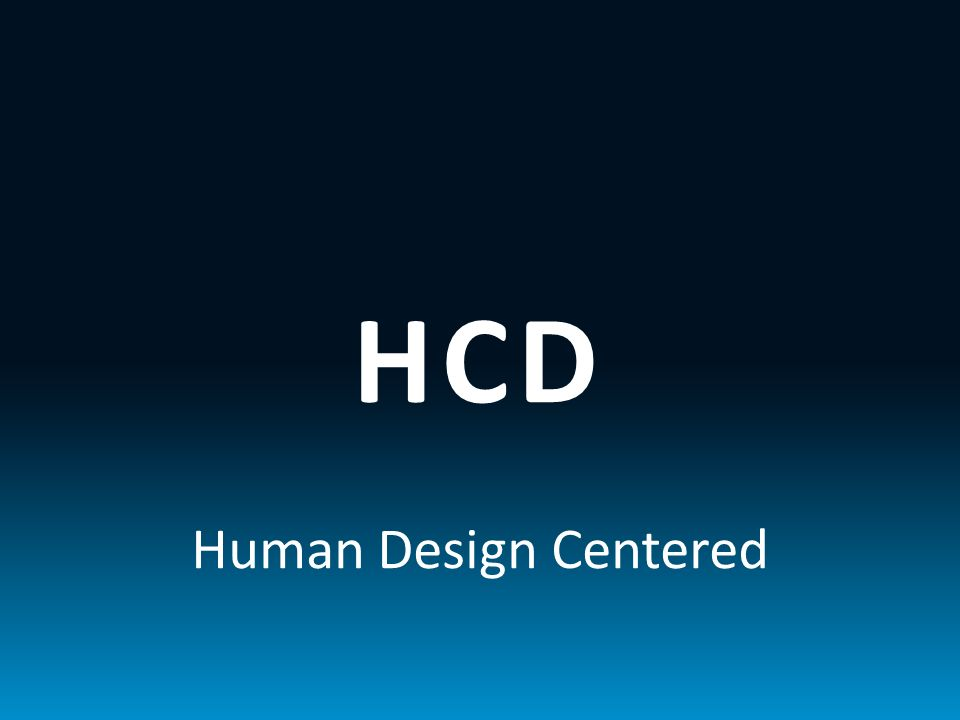 HCD Human Design Centered