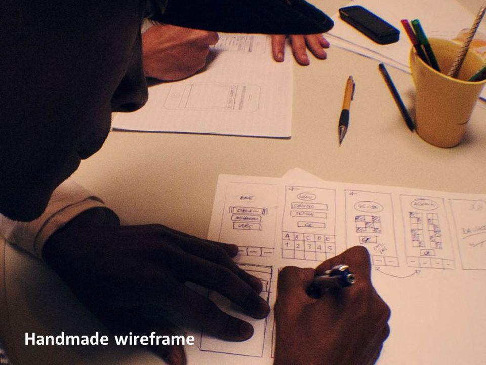 Handmade wireframe