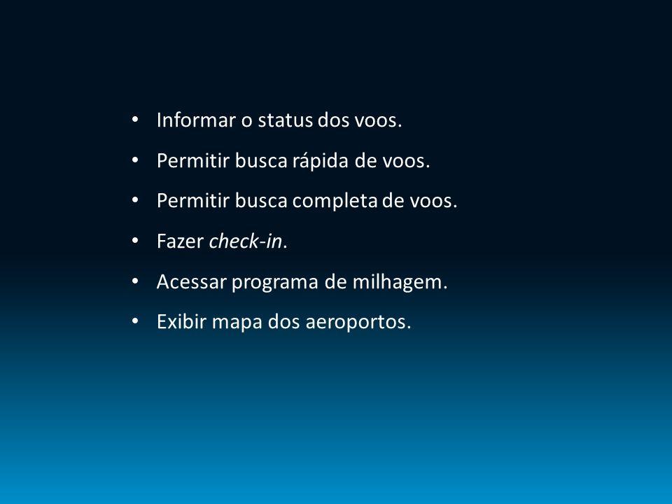 Informar o status dos voos.