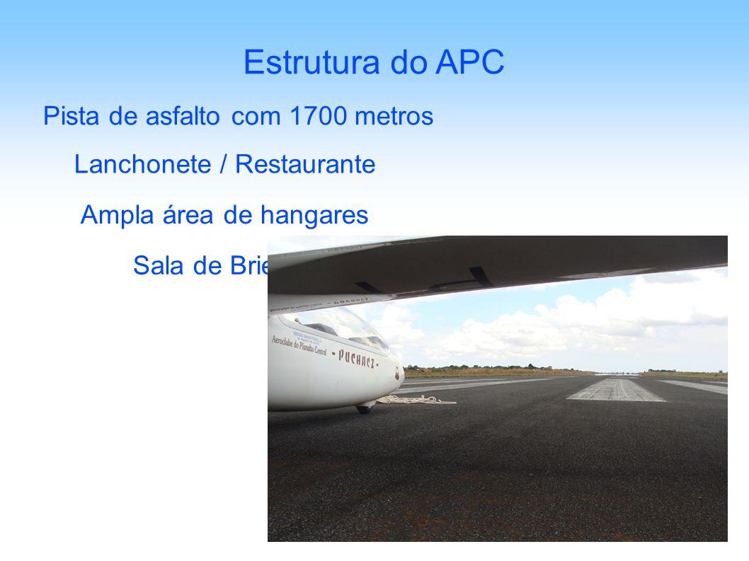 Estrutura do APC Pista de asfalto com 1700 metros