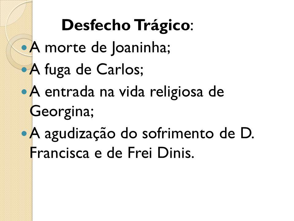 Desfecho Trágico: A morte de Joaninha; A fuga de Carlos; A entrada na vida religiosa de Georgina;