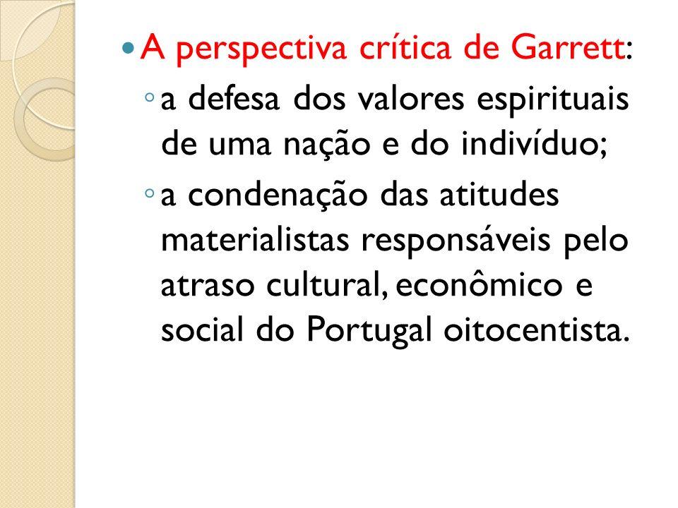 A perspectiva crítica de Garrett: