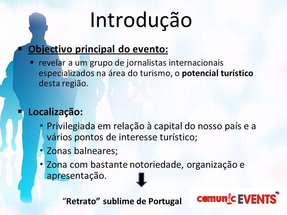 Introdução Objectivo principal do evento: Localização: