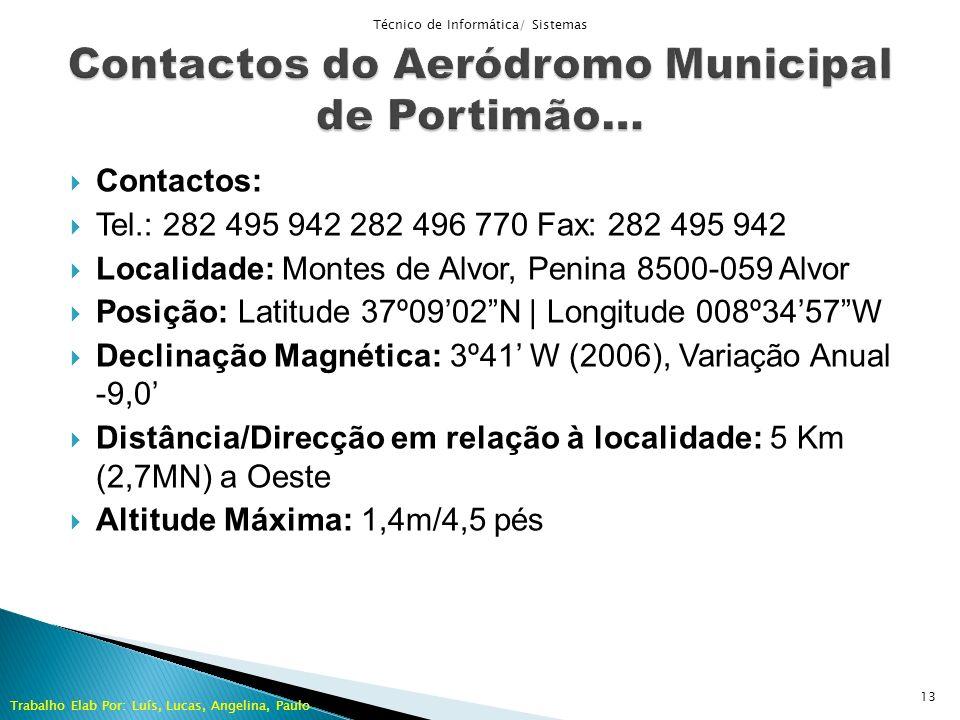 Contactos do Aeródromo Municipal de Portimão…