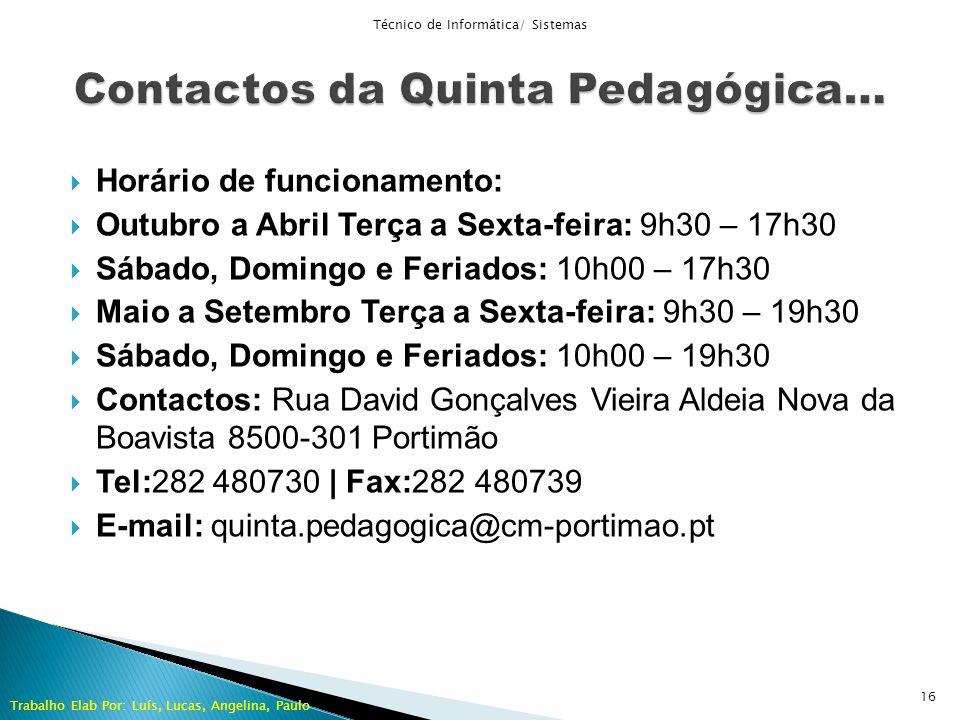 Contactos da Quinta Pedagógica…