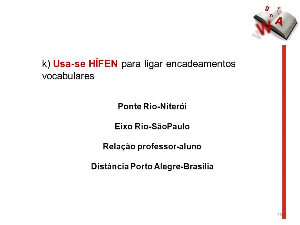 Relação professor-aluno Distância Porto Alegre-Brasília