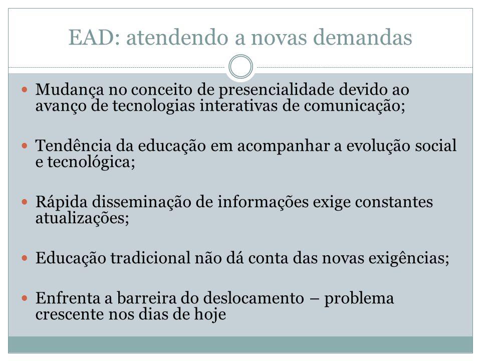 EAD: atendendo a novas demandas