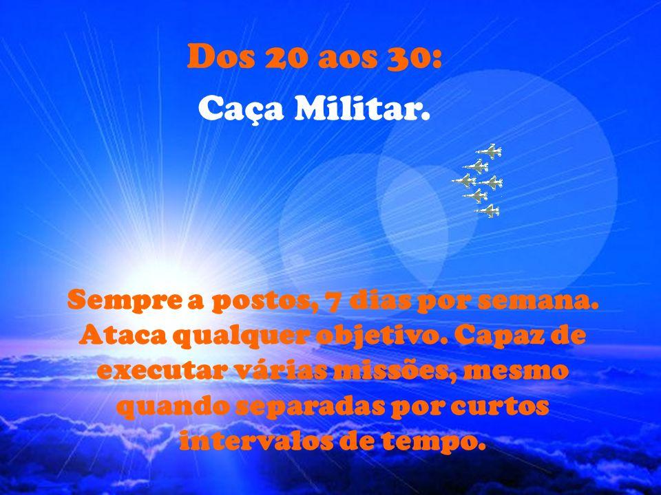 Dos 20 aos 30: Caça Militar.