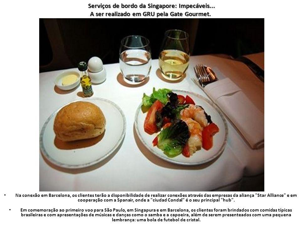Serviços de bordo da Singapore: Impecáveis...