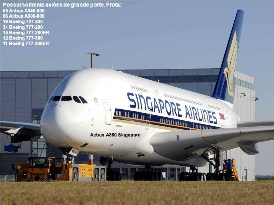 Possui somente aviões de grande porte. Frota: