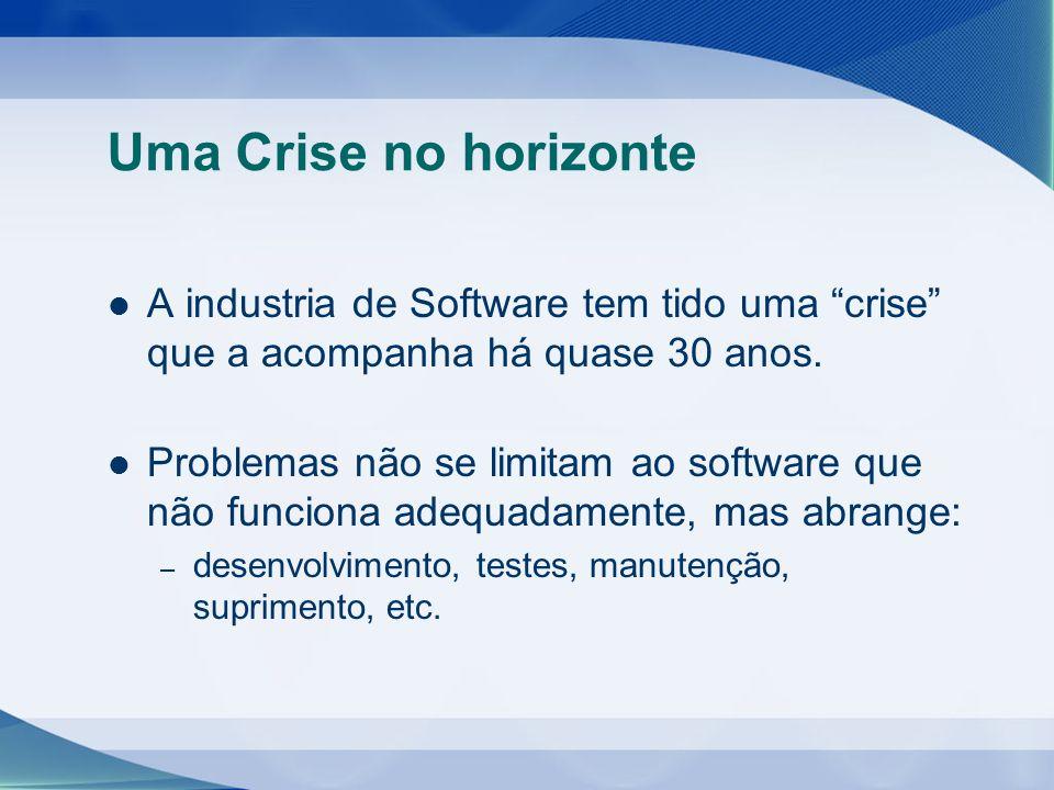 Uma Crise no horizonte A industria de Software tem tido uma crise que a acompanha há quase 30 anos.