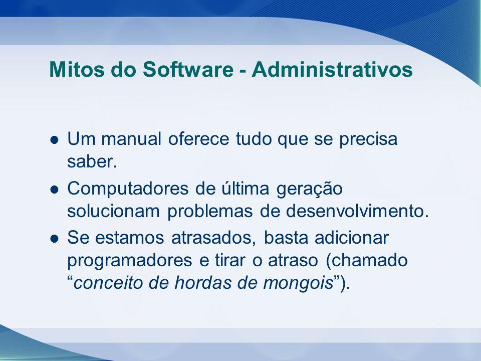 Mitos do Software - Administrativos