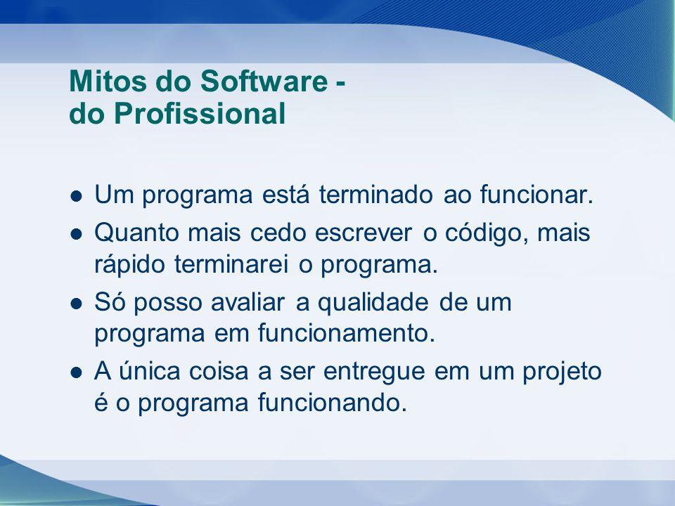 Mitos do Software - do Profissional