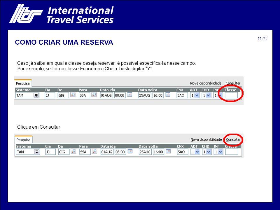 COMO CRIAR UMA RESERVA 11/22