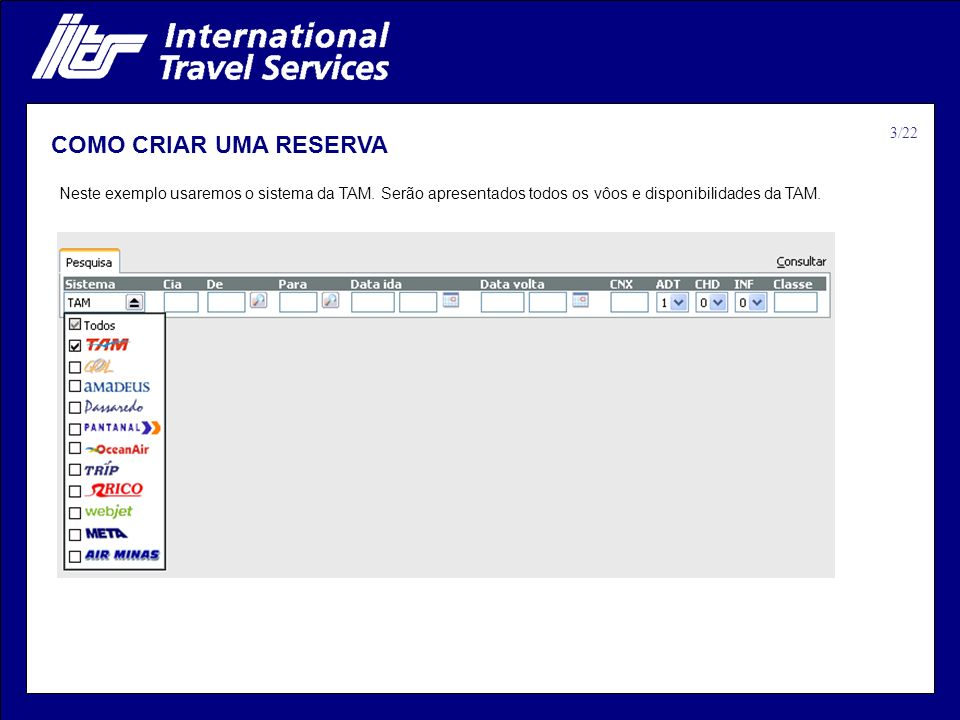 COMO CRIAR UMA RESERVA 3/22