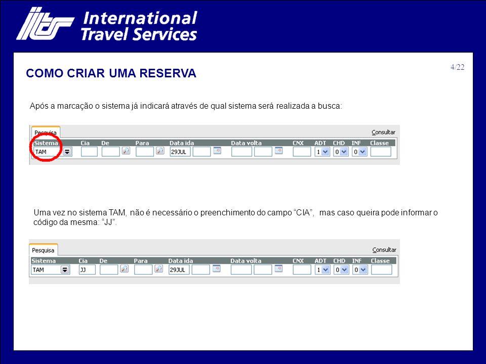 COMO CRIAR UMA RESERVA 4/22