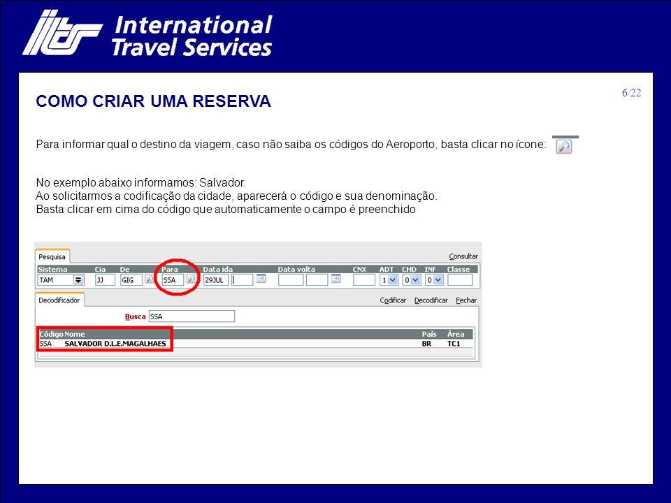 COMO CRIAR UMA RESERVA 6/22