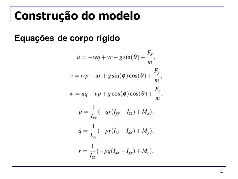Construção do modelo Equações de corpo rígido 18